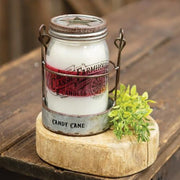 Candy Cane 3 Layer Jar Candle w/Tin Holder, 14oz