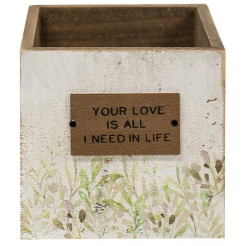 Your Love Wooden Catch-All Box