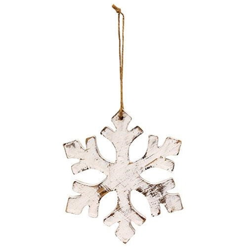 Distressed Wooden Snowflake Ornament