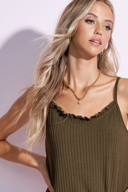 Ruffled Camisole Top