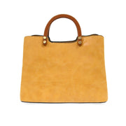 Angie Vintage Satchel with Wood Handle
