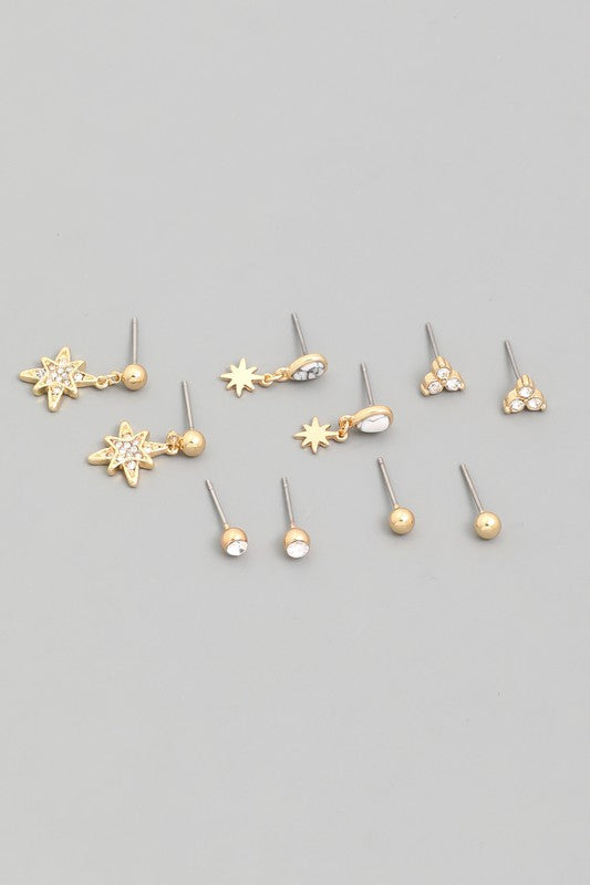 Mini Star Stud Earrings Set