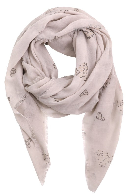 Star Dotted Heart Scarf