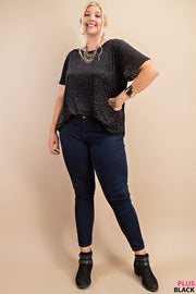 Burn-Out Leopard Top