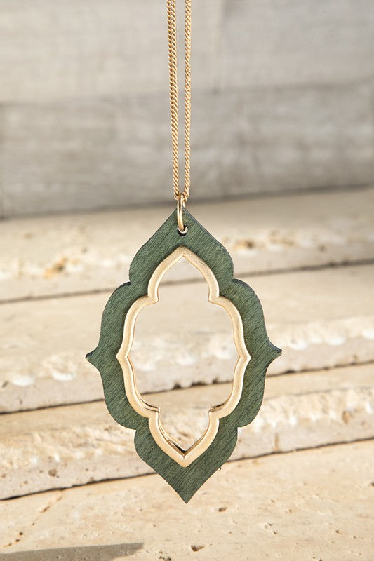 Wooden Marquee Necklace