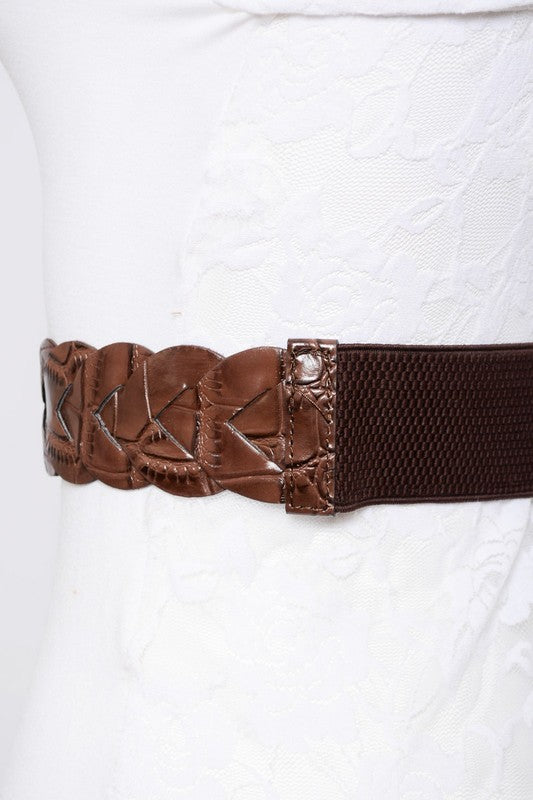Braided Front Elastic Belt
