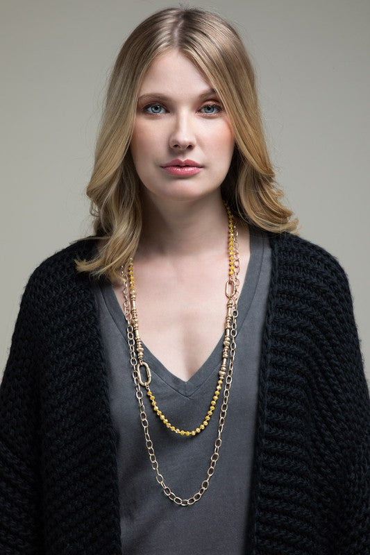Marigold Double Layered Necklace