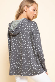 Abstract Dot Hoodie