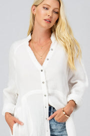 Plush Button Down Oversized Shirt