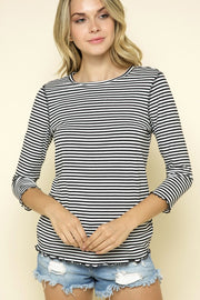 Marrow Hem Striped Top