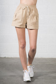 Drawstring Waist Knit Shorts