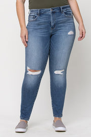 Aftermath Distressed Vintage Wash Skinny Jean - Curvy