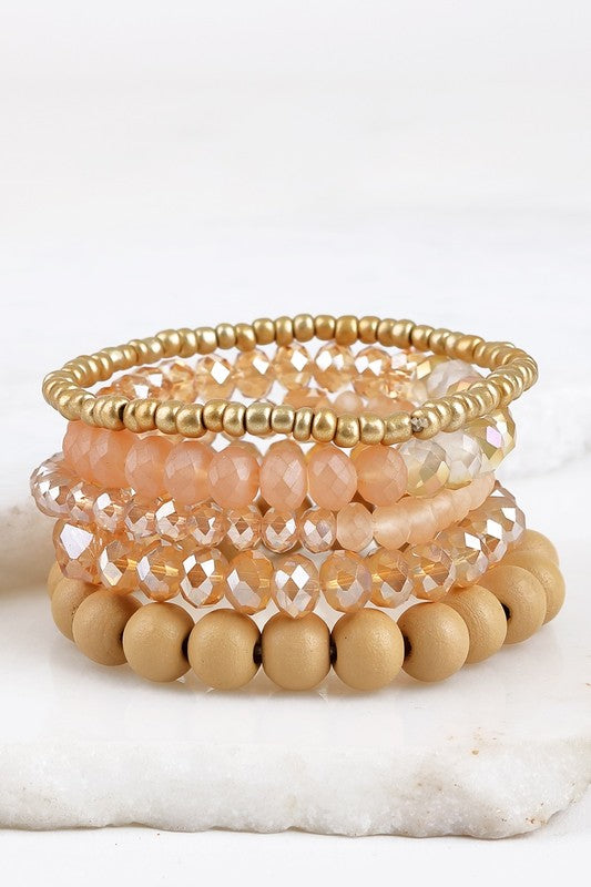 4pc Stretch Bracelet Set