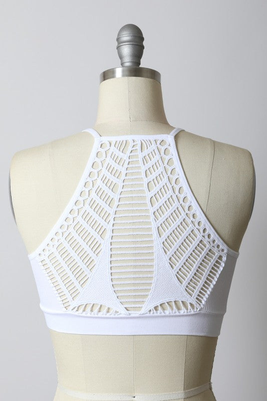Seamless Razor Slash Back Bralette