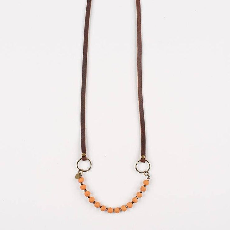 Terracotta Leather Cord Diffuser Necklace