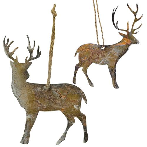 Rusty Wonder Deer Ornament