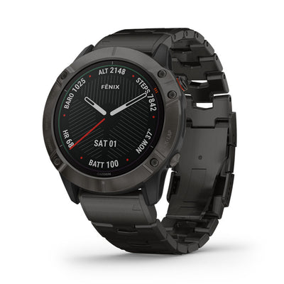 fēnix 6X ProSolarTitanium Carbon Gray DLC with DLC Titanium Bracelet