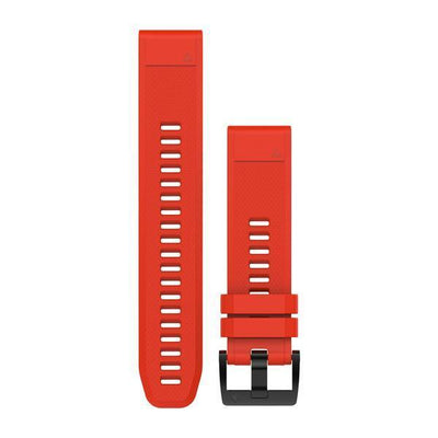 QuickFit® 22 Watch Band Silicone (F5) Flame Red