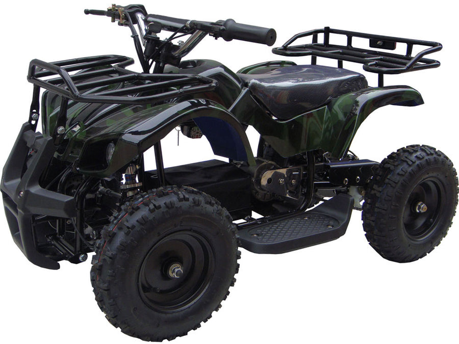 MotoTec 24v Kids ATV v4 Camo Green