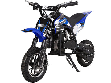 MotoTec 49cc GB Dirt Bike Blue
