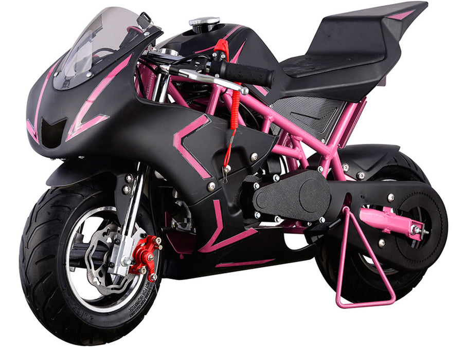 MotoTec Cali Gas Pocket Bike 40cc 4-Stroke Pink
