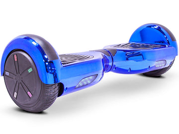 MotoTec Self Balancing Scooter 24v 6.5in Blue Chrome
