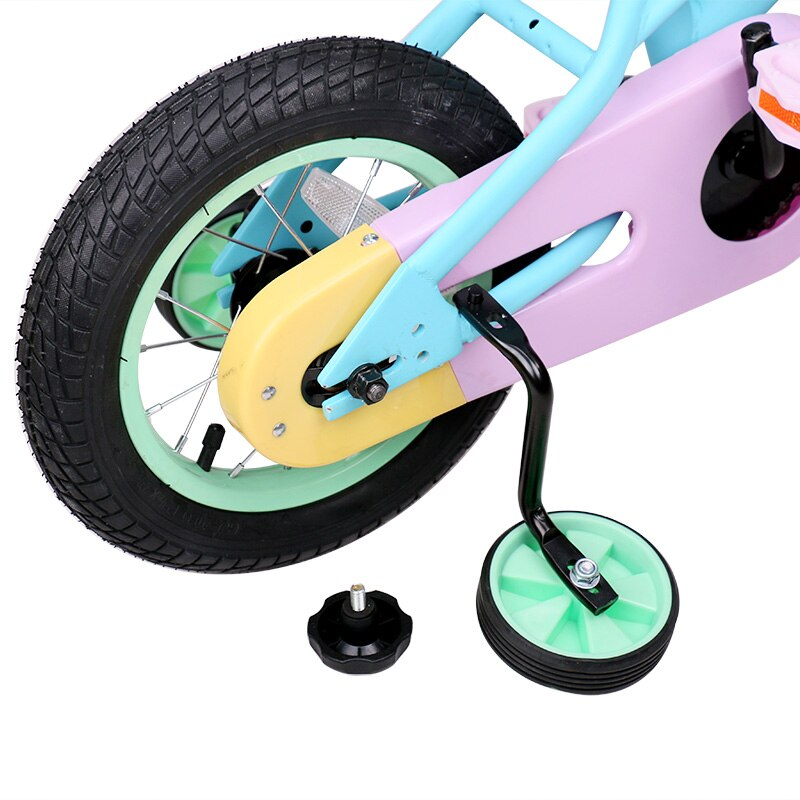Stitch Macaron Kids Bicyclese with Quick Release Training Wheel