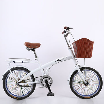 20 inch Adult Big Boy Light Girl Princess Lady With Child Leisure Commute Single Speed Small Wheel Bicycle