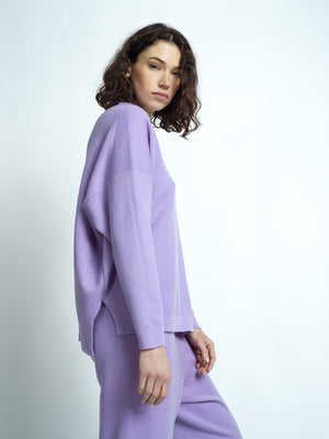 MERINO WOOL SET LILAC