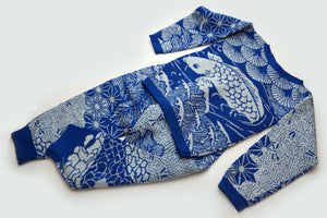 WOOL SET JAPAN BLUE WHITE