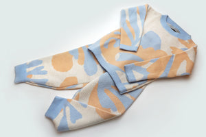 WOOL SET MATISSE APRICOT LIGHTBLUE WHITE