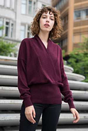 Cashmere Sweater Uni dark red