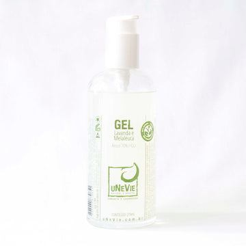 Alcool Gel 70% com Pump 180ml Unevie