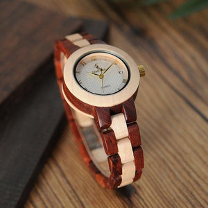 Spocket Fashion Accessories M19 Rose Sandal Wood Watch Women Minimal