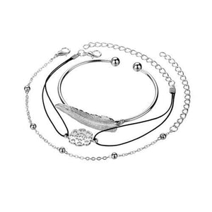 Spocket Jewelry & Watches 3pcs Women Stainless Steel Bracelets