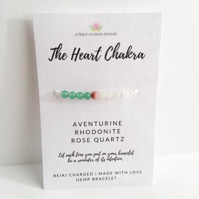 Spocket Jewelry & Watches Heart Chakra Hemp Bracelet - Wish Bracelet