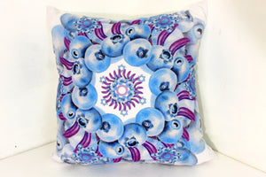 "Pillow Blue Mandala 16"" square"
