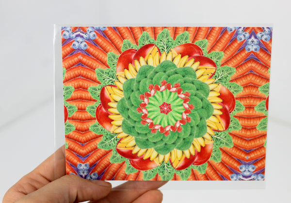 Postcards Multicolored Mandalas Set of 4