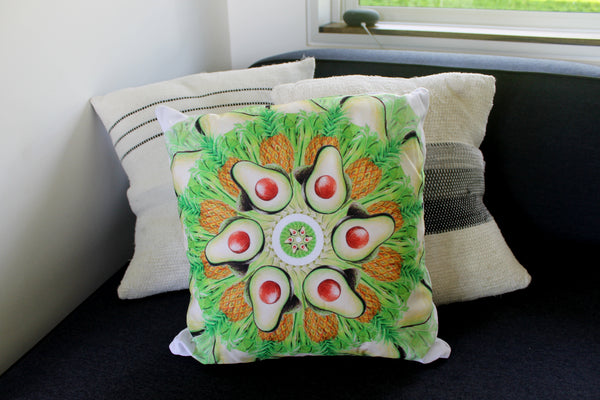 "Pillow Light Green 16"" square"