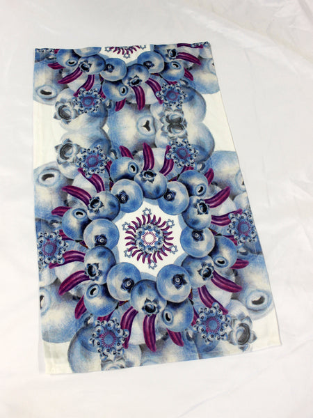 Tea Towel Mandala Blue