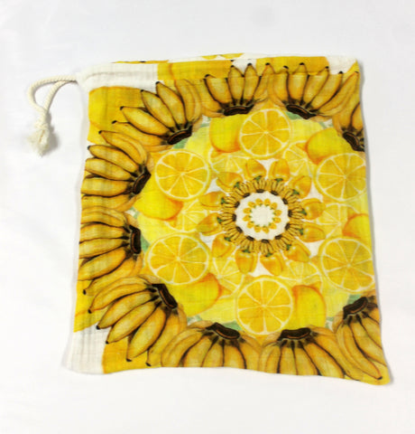 Drawstring Produce Bag Yellow