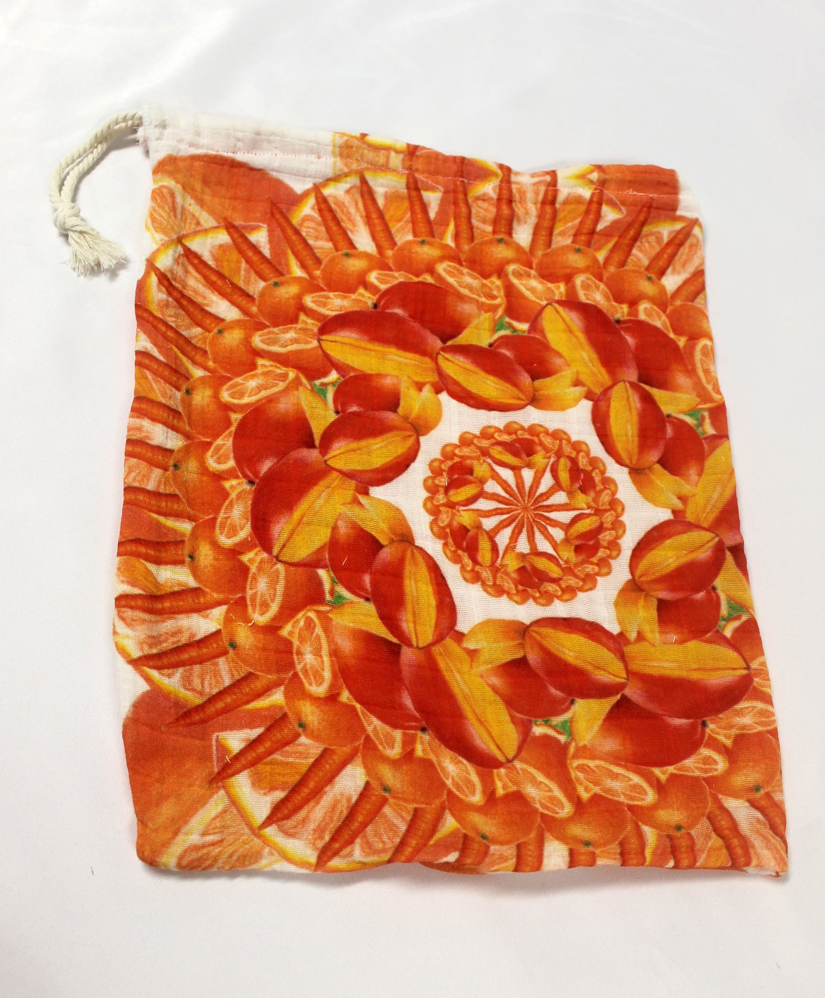 Drawstring Produce Bag Orange