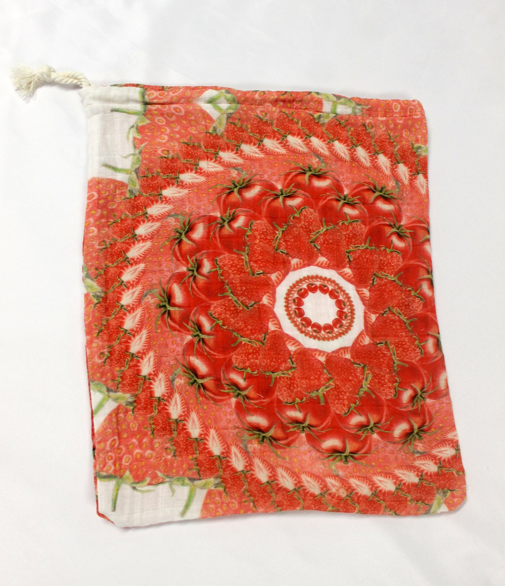 Drawstring Produce Bag Red
