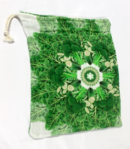 Drawstring Produce Bag Dark Green