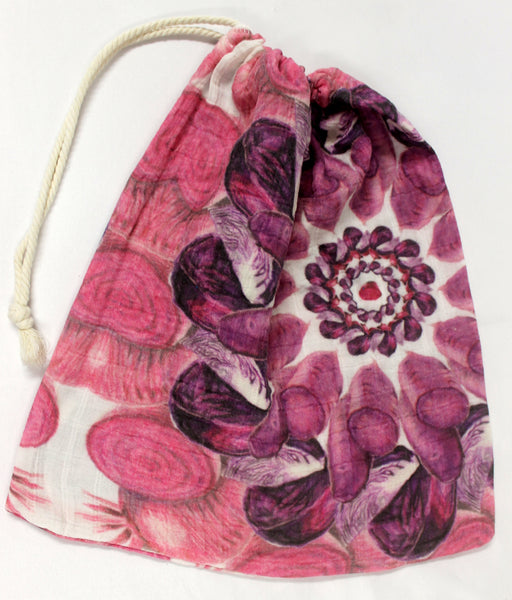 Drawstring Produce Bag Purple