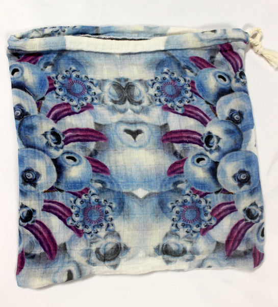 Drawstring Produce Bag Blue
