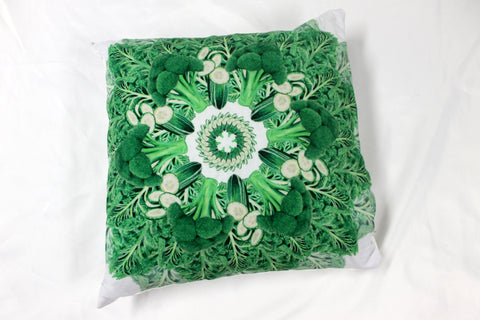 "Pillow Dark Green 16"" square"