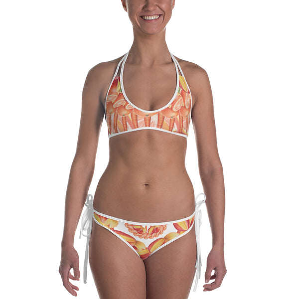 Reversible Purple and Orange Bikini