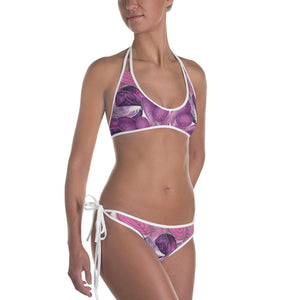 Reversible Purple and Green Bikini