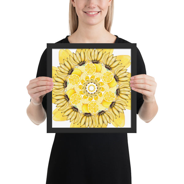 Framed photo paper Yellow